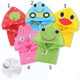 Детская модель животных Raincoat 5 дизайн Новые дети кролика лягушки Дождь пальто Мальчики мальчика дождь Кейп водонепроницаемые пальто Poncho B от