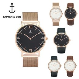 Wholesale Brown Friends - 2017 Fashion BRAND KAPTEN & SON WATCH MEN SPORTS WOMEN DRESS PARTY WATCH BOY FRIEND GIRL LOVER WATCH