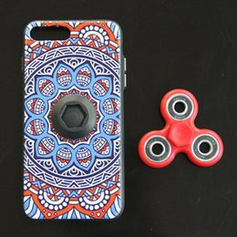 Wholesale Painting Finger - Painted Phone Cases Ethnic Style Toys Printed Finger Spinner Phone Case without LED for iPhone 6 6S 6 Plus 7 Plus Focus Phone Cover Case
