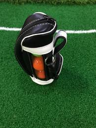 Wholesale Mini Golf Bags Wholesale - Wholesale- Mini Portable Leather Zipper Golf Ball Holder Pouch Bag Hold 4 Balls Golfer Accessories