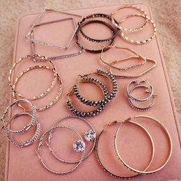 Wholesale Earrings Wholesale Mixed Order Silver - mixed ring earring Jewelry drop Earings 2016 Brand New free shipping Beautif Earrings Dangle Earrings Mix Order
