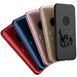 Wholesale Teddy Bear Cover For Iphone - New Case for Iphone X 5.8'' inch Teddy Bear Back Cover Ultra Thin with Holder Ring 5 Colors with without Circle Hole