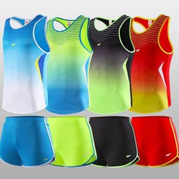 Wholesale Vest Pants Women - Jimesports Men Women Yoga Sets Professional Marathon Running Sports Vest + Shorts Fitness Gym Track and Field Tank Tops Elastic Short Pants