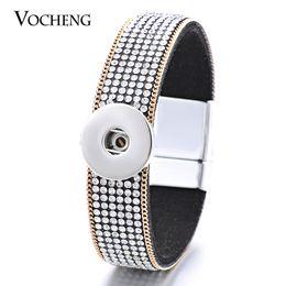 NOOSA Snap Charms Bracelet Magnet Fermoir Tissu Bijoux Interchangeables Bling Cristal Fit 18mm Bouton VOCHENG NN-420 ? partir de fabricateur