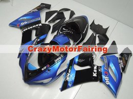 Wholesale Kawasaki Zx6r Blue Fairings - 3 Free gifts New Fairing kits for 05 06 ZX 6R 636 2005 2006 Ninja ZX6R ZX636 ABS fairings Body kits hot sales nice black blue cool