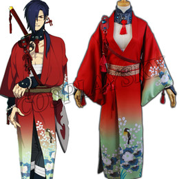 Wholesale Dramatical Murder Cosplay Costume - Wholesale-DMMD DRAMAtical Murder Koujaku Kimono Cosplay Costume