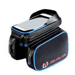 Wholesale Bike Bicycle Cycling Front Bag - Bicycle Package Touch Screen Waterproof Phone Bag Mountain Bike Tube on the Front Beam Package Riding Equipment Cycling Accessories