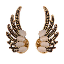 Wholesale Scarf Middle Eastern Style - 10Pairs Lot Wholesale High Quality New Style Summer Jewelry Accessories Scarf Lapel Pin Brooches Vintage Wings Crystal Brooch