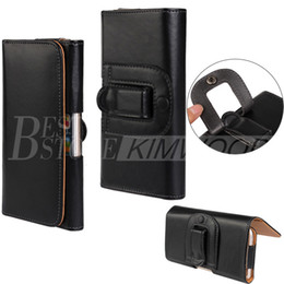 Wholesale Wholesale Leather Wallets For Iphone - Universal Wallet PU Leather Horizontal Holster Case Cover Pouch With Belt Clip For Apple Iphone 6 7 8 Plus Samsung S7 Note 5