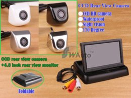 UK mini ccd lens - car Parking 2.4G wireless rear view camera 170 degree lens HD CCD backup camera+ 4.3 Inch TFT LCD Mini Car Rearview Monitor