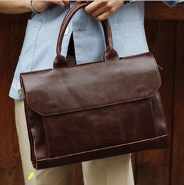 Wholesale High Quality Mens Bags - Factory direct selling mens bags of fashion and high quality leather casual men fashion business man retro briefcase computer bag