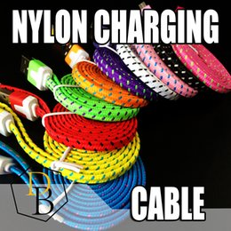 Wholesale Usb Micro B Male - For I phone7 Nylon Micro USB Cable, Premium 3FT 6FT 10FT Fabric Braided USB 2.0 A Male to Micro B Data Sync and Charge Cables for Samsung,