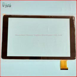 Wholesale Touch Screens For Computers - Wholesale- New For 10.1'' inch TEXET TM-1067 touch screen tablet computer multi touch capacitive panel handwriting screen Free Shipping