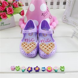Wholesale Jelly Heart Sandals - Hot Sale Summer Baby Shoes Kids Girl Sandals Sweet Heart Flat Plastic Sandals Children Shoes Jelly Shoes Soft Jelly Sandal