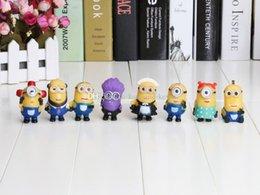Wholesale Despicable Pvc Figures - 5cm 8PCS Set Despicable Me 2 PVC action Figure doll Toys With Box 8 STYLES