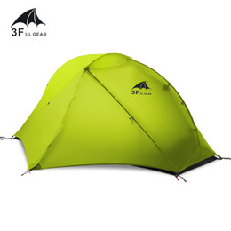 Wholesale Professional Construction - Wholesale- 3F UL GEAR Oudoor Ultralight Camping Tent 3 4 Season 1 Single Person Professional 15D Nylon Silicon Tent Barracas Para Camping