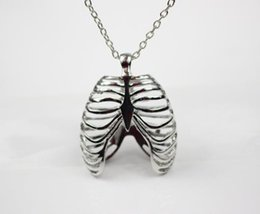Wholesale Wholesale Anatomy - High Quality fashion New Anatomical Human Rib Cage Anatomy Pendants Vintage Necklace For womenFactory direct wholesale jewelry!