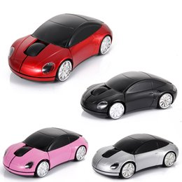Wholesale Wireless 3d Optical Car Mouse - 3D Wireless Optical Mouse with USB Receiver Car Shape Mouse Mice For PC laptop XP WIN7