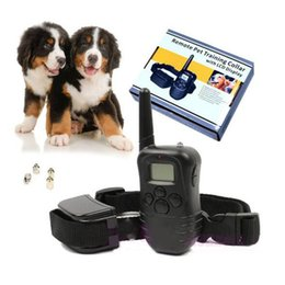 Wholesale New Retail Products - New LCD 100LV Level static and Vibra Remote Pet Dog Training rechargeable dog obedience with retail package