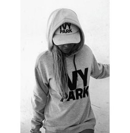 Wholesale Parks Sports - High Quality Beyonce IVY PARK Letter Printed Hooded Hoodies Pullovers Womens Sports Jogging Sweatshirts Femme Harajuku Tracksuit