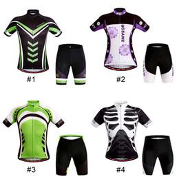 Wholesale Cycling Shirts Wholesale - Original WOSAWE Summer Women Man Cycling MTB Short Sleeves Jersey Bike Bicycle Jersey Sets Shirts Padded Cycling Wear New Arrival 2510002