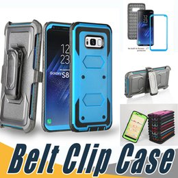 Wholesale Screen For Alcatel - Shockproof Armor Hybrid Kickstand Case With Belt Clip and Screen Cover For iPhone 7 7S 6 6S Plus 5 5S SE Alcatel Idol4 Fierce4 TUR BLU R1 HD