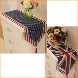 Usa Uk United States American British National Flag Dining Table Runner Cover Home Decor Table Cloth In Bulk Price