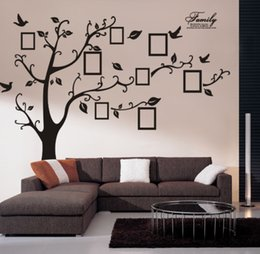 extra large 180250 black photo frame tree wall sticker home decorations family wall decals