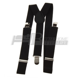 Wholesale Pants Braces Strap - Wholesale-1pcs Clip-on Adjustable Straps Unisex Pants Fully Elastic Y-back Suspender belt Braces