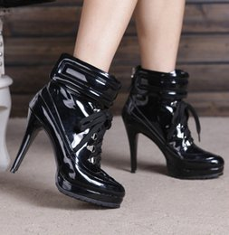 Wholesale Cheap Silver Wedge Heels - Women Shoes Luxury Newest Fashion Cheap Price Hot Sale Ankle Cross-tied High Heels Platform Lace-up Black Silver Gladiator