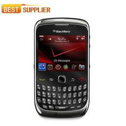 Обновленные мобильные телефоны qwerty онлайн-Смартфон цвет бар Оригинал разблокирован Blackberry 9300 мобильный телефон кривая сотовый телефон Wifi GPS отремонтированы QWERTY клавиатура