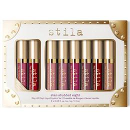 Wholesale Free Stays - 8Pcs Makeup Set Stila Star-Studded Eight Stay All Day Liquid Lipstick Set Stila Cosmestics Liquid Lip Gloss Kit Free DHL