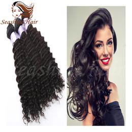 Wholesale Buy Cheap Human Hair - Buy 3 pcs Get 4pcs! Cheap Indian Deep Wave Hair Bundels 8A Gread Virgin Human Hair Extensions Hair Weave Deep Wave Hair Weft