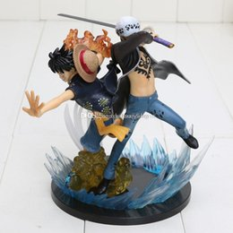 Wholesale Figuarts Zero - One Piece Action Figure Figuarts Zero Luffy VS Trafalgar Law 5th Anniversary PVC Doll Model Toy approx 16cm with box