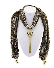 Wholesale Winter Scarves Rhinestones - 2016 NEW Retro Pendant Scarves Fashion Jewelry Scarfs Lady's Fall Winter necklace