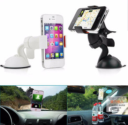 Wholesale Car Holder For Tablet Pc - Windshield 360 Degree Rotating Car Sucker Mount Bracket Holder Stand Universal for Phone GPS Tablet PC Accessories Newest