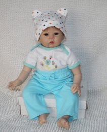 Wholesale Cheap Vinyl Dolls - 22 inch Reborn baby silicone vinyl dolls handmade realistic lovely baby gift Dolls Cheap Dolls
