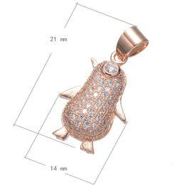 Wholesale Penguin For Sale - 2016 Hot Sale Charms Bracelet CZ Micro Inlay Copper Pendant Penguin Plated More Colors For Choice 21x14mm Hole:About 3.9mm 10PCS Lot