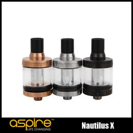Wholesale tech glasses - 100% Original Aspire Nautilus X Atomizer 2ml Adjustable Top Airflow Tank Leakproof design with U-Tech coil system Authentic