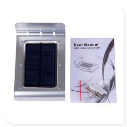 Wholesale Solar Motion Sensor Detector - 24 LED Solar Motion Sensor Outdoor Light Waterproof Auto Security Night Detector Lighting for Patio Garden Fence Pathway