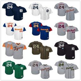 Wholesale Ivory Tiger - Mens #24 Miguel Cabrera Green Celtic Gray Fashion Stars Navy Blue White with Pink for Mothers day Detroit Tigers Baseball Jerseys Sale