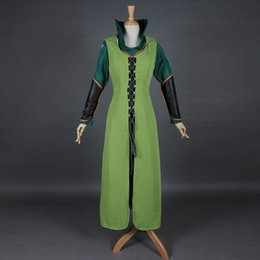 Wholesale green elf costume - Free Shipping Sexy Women Green The Hobbit 2 3 Elf Tauriel Cosplay Costume Movies The Hobbit Halloween Cosplay Costumes
