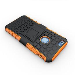 teléfonos delgados baratos Rebajas Caja barata del teléfono celular del OEM para la caja ultra delgada de la armadura del neumático del iPhone 6 / 6s con el caso de la cubierta del teléfono móvil del soporte