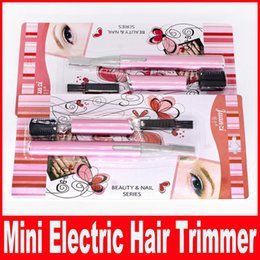 Wholesale Body Hair Trimming - Mini Portable Women Ladies Body Shaver Razor Epilator Electric Eyebrow Hair Trimmer Remover Cutter Beauty Tool