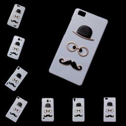 Wholesale Ascend P2 - Cute Case for Huawei Ascend P1 P2 P6 P7 P8 Lite P9 Lite P9 Plus Nexus 6, Fashion Chaplin Sexy Gentleman Hat Glasses Mustache Back Hard Cover