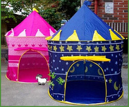 Wholesale Blue Castle Play Tent - Kids Play Tent New Portable Girl Pink Princess Play Tent Childrens Kids Castle Cubby Play House Cute Toy Game House Baby Crawling House