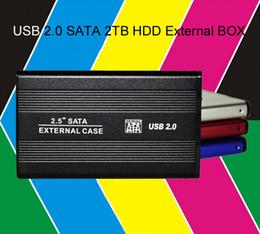 Wholesale Usb Converter Drives - New 2.5inch USB 2.0 SATA 2TB 1024GB External Storage Hard Disk Drive HDD Case Box Enclosure Converter Adapter Connector