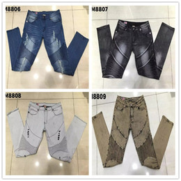 Wholesale Religion Free - Discount New 2017 brand jeans mens true elastic jeans rock slim fits high quality denim trousers free religion style in china to shipping