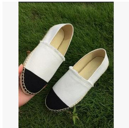 Wholesale Thick Sole Casual Black Shoes - Summer breathable slip minimalist Thick Soles Fashion Designer Brand Flats Canvas Espadrilles Casual Ladies Loafers Flat Shoes Woman Plus Si