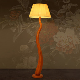 Wholesale Chinese Lampshade - Floor Lamps Modern Chinese New Design Style LED Floor Lights 110V 220VResin Body Fabric Lampshade Sitting Room Lamp Sofa Edge Beside Lamps
